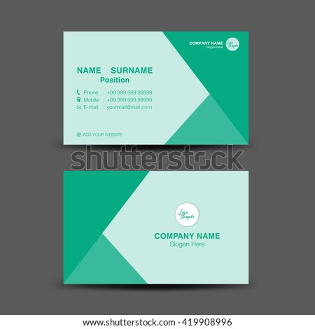 Green business card vector backgroundflyer designpolygon stock green business card vector backgroundflyer designpolygon backgroundname card template reheart Choice Image
