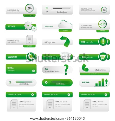 Green business start up button pack