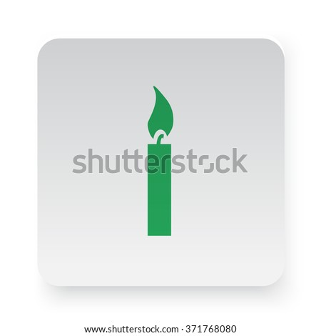Green Candle Light icon on white app button