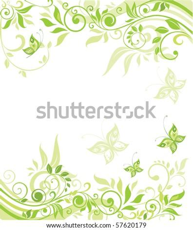 Green card - stock vector