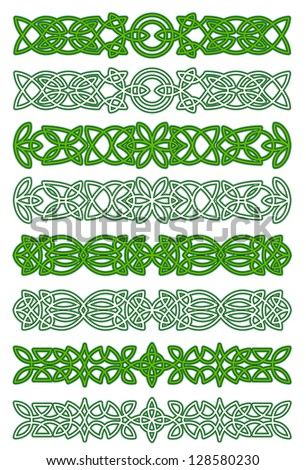 Green celtic ornament elements for embellishments and design. Jpeg version also available in gallery - stock vector