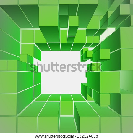 green central ecology gate composition vector illustration - stock vector