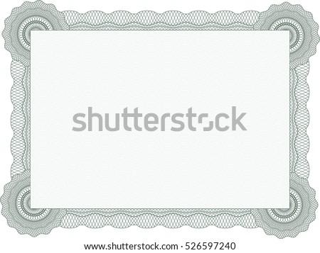 Green certificate template stock vector 526597240 shutterstock green certificate template yadclub Gallery