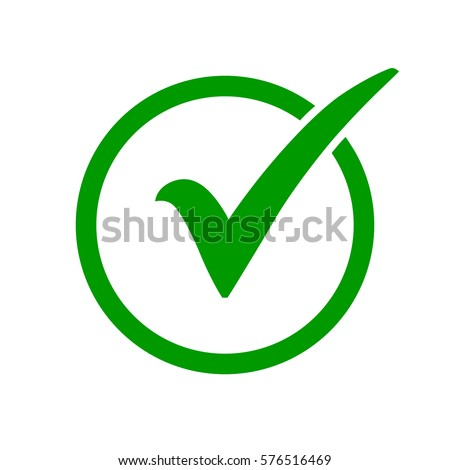 Green Check Mark Icon Circle Tick Stockvector 576516469 Shutterstock