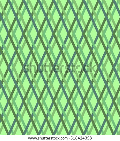 Green checked texture, seamless vector background