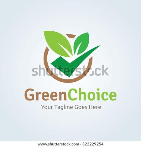 Green Choice logo,Organic logo,Vector - stock vector