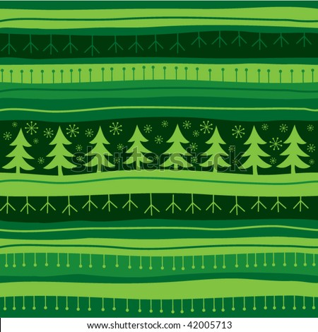 Green Christmas seamless background