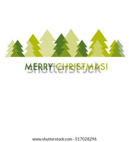 green christmas tree card template vector stock vector hd royalty