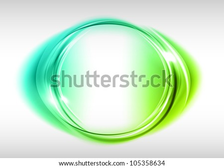 green circle on the light background - stock vector