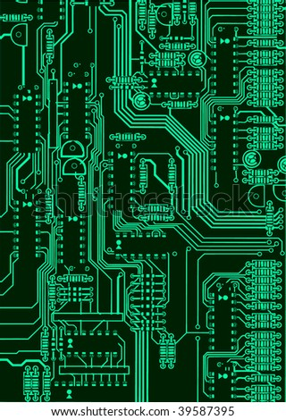 green circuit board background