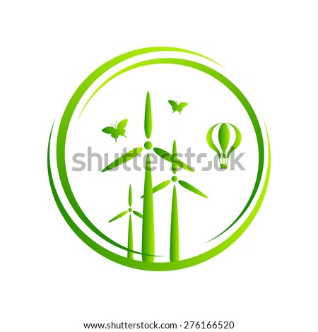 Green City, eco. Vector illustration