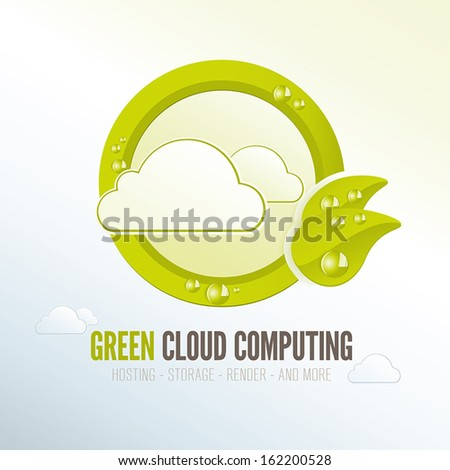 Green cloud computing badge for quality energy efficient technology