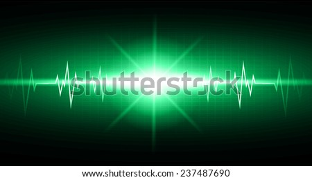 Green color pulse Light Abstract Technology pixels background for computer graphic website and internet,  - stock vector