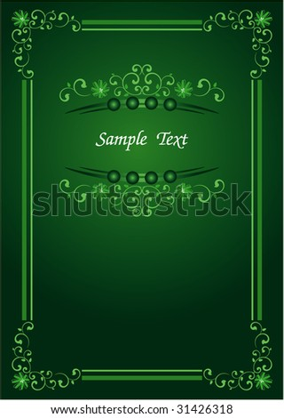 green color vintage template