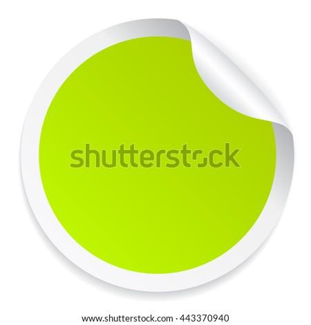 vector green blank template sticker light stock vector 192935705 shutterstock. Black Bedroom Furniture Sets. Home Design Ideas