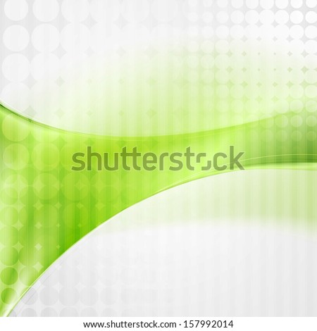 Green colourful abstract waves design - stock vector