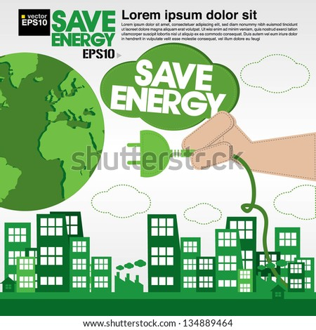Green concept illustration vector.EPS10 - stock vector