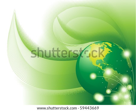 Green concept. Only gradients were used for coloring. - stock vector