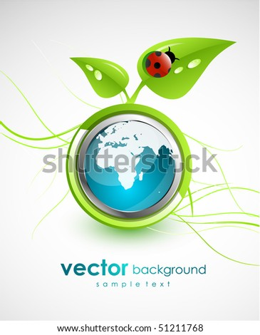 Green concept. Vector nature background