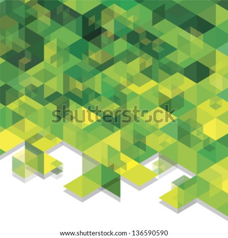 green cubes - stock vector