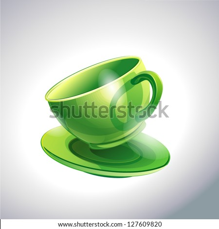 Green cup Coffee - stock vector