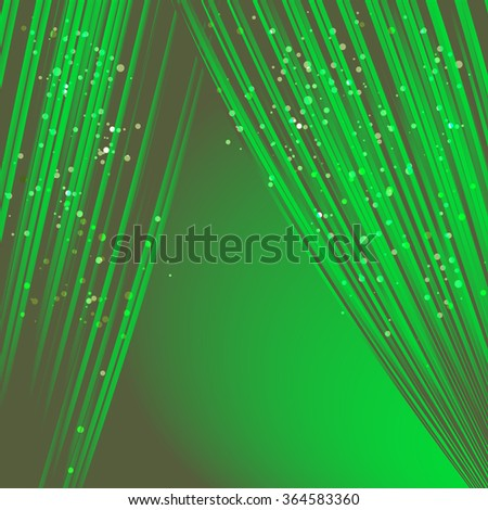 Green curtain on a black background - stock vector