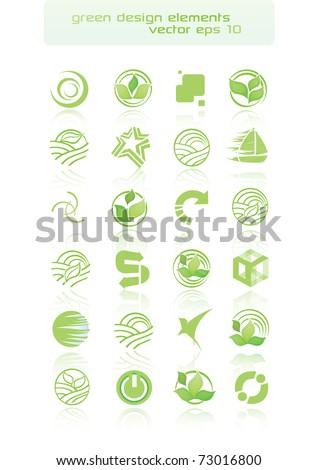 Green Design Elements - stock vector