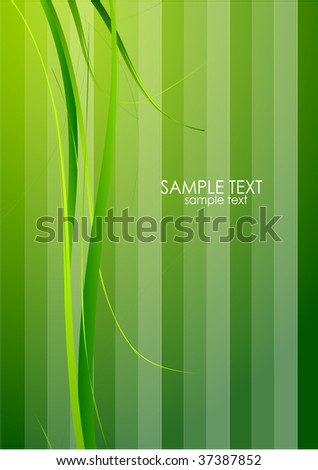 Green design with grass