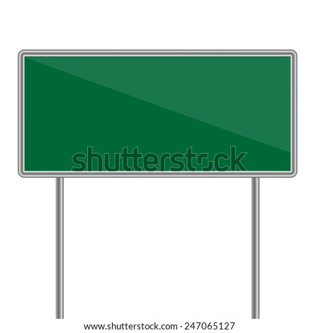 green direction sign. Vector illustration