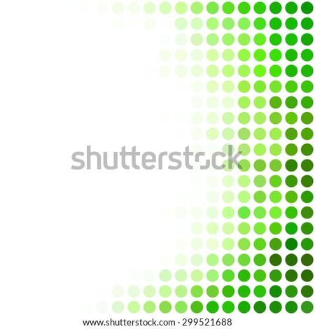 Green Dots Background, Creative Design Templates - stock vector