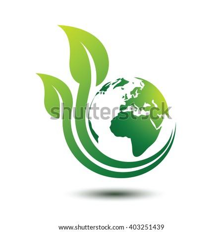 Green Earth Concept Leavesvector Illustration Stock Vector ... Green Earth Logo Vector
