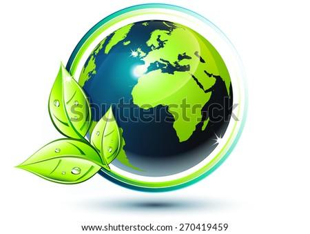 Green Earth Ecofriendly Concept Stock Vector (Royalty Free ... Green Earth Logo Vector