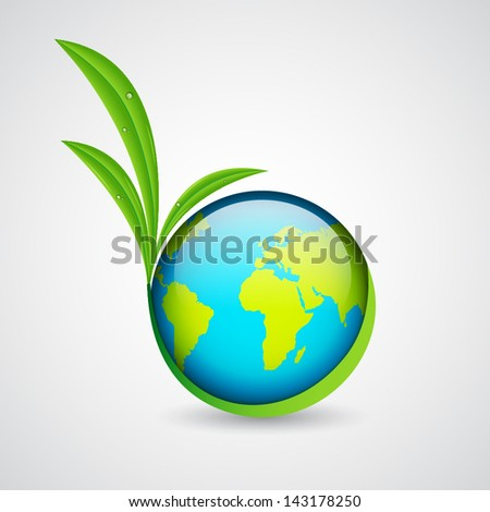 Green earth. Ecology concept. EPS10 vector - stock vector