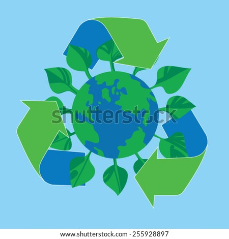 Green earth,sustainable development concep