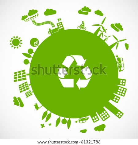green earth - sustainable development concept - stock vector