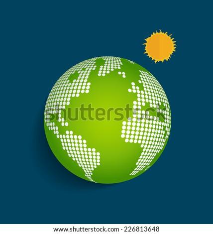 Green Earth. Vector Illustration. - stock vector