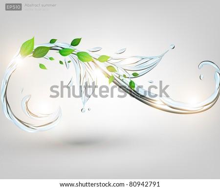 Green eco background - stock vector