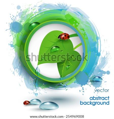 Green eco  banner - stock vector