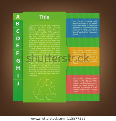 Green eco business folder template for presentation