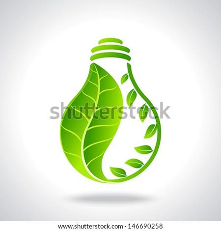 green eco energy concept - stock vector