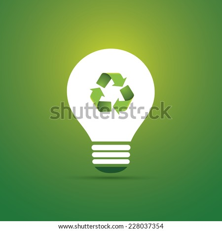 Green Eco Energy Concept Icon - Recycling