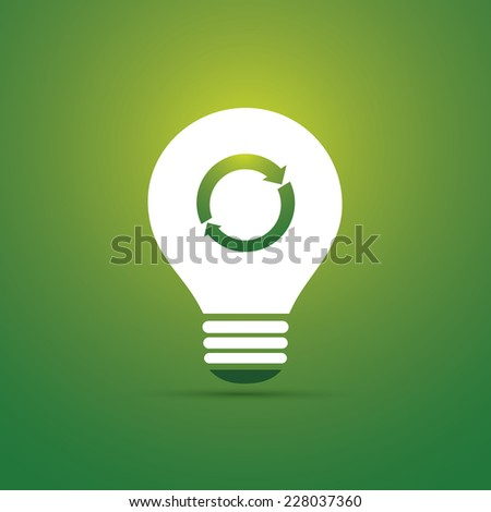 Green Eco Energy Concept Icon - Recycling - stock vector