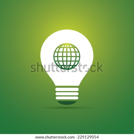 Green Eco Energy Concept Icon - Sustainable World - stock vector