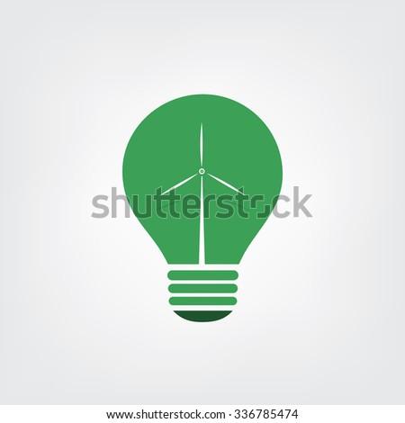 Green Eco Energy Concept Icon - Wind Power - stock vector