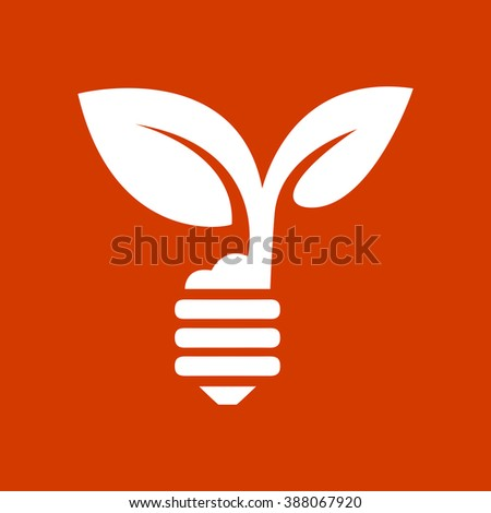 green eco energy concept, plant growing inside the light bulb - stock vector