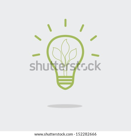 green eco energy concept, plant growing inside the light bulb,eps 10 vector