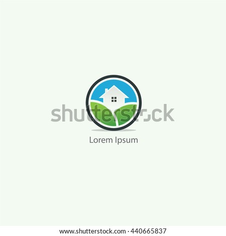 Green, ECO, Forest, Home, Industrial Logo