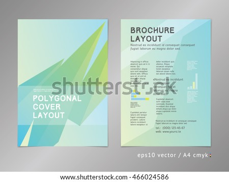 Green Ecofriendly Style Brochure Cover Layout Stock Vector - Digital brochure templates