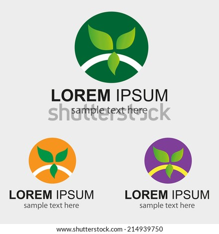 Green eco nature leaf symbol circle icon environmental�  - stock vector