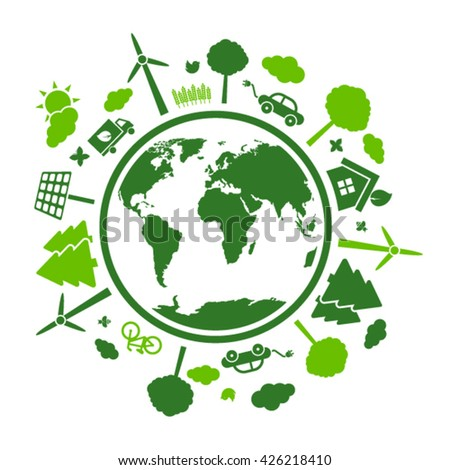 Green eco planet